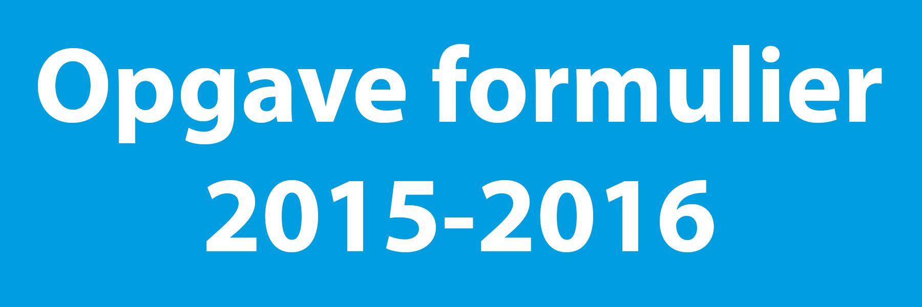 Opgave 2015-2016